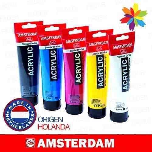 Acrilicos Amsterdam 120ml Todos Los Colores..barrio Norte!!