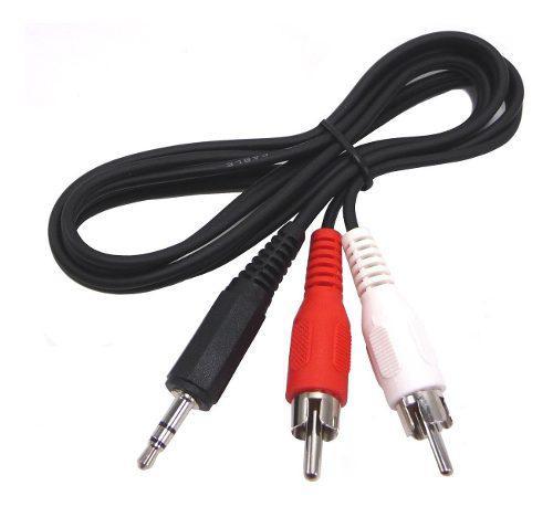 Cable Miniplug A 2 Rca 3 Mts Excelente Calidad