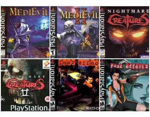 Lote Juegos De Terror Playstation 1