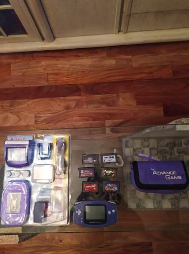 Game Boy Advance 6 Juegos 7 Accesorios En Caja Y Estuche