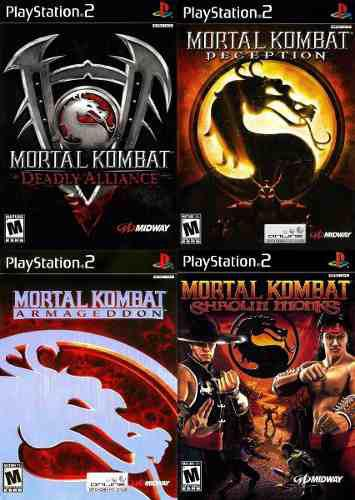 Mortal Kombat Collection Ps2 Juego Playstation 2 (4 Discos)