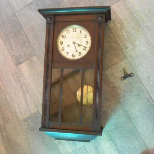 Antiguo Reloj De Pared Junghans Ms