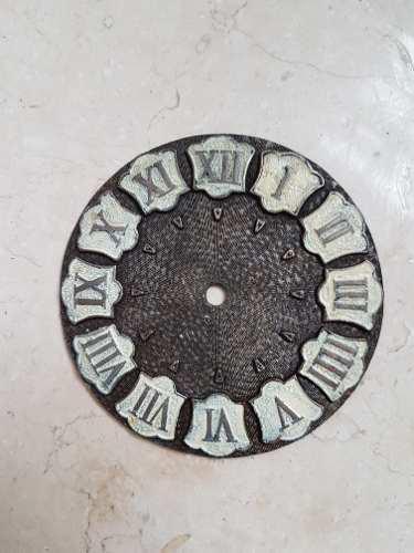 Cuadrante Antiguo Para Reloj De Bronce
