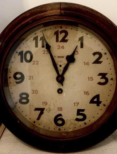 Oferta!! Reloj A Cuerda De Pared Antiguo Junghans