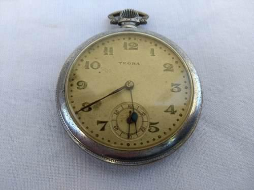 Reloj De Bolsillo Antiguo Tegra (funcionando)