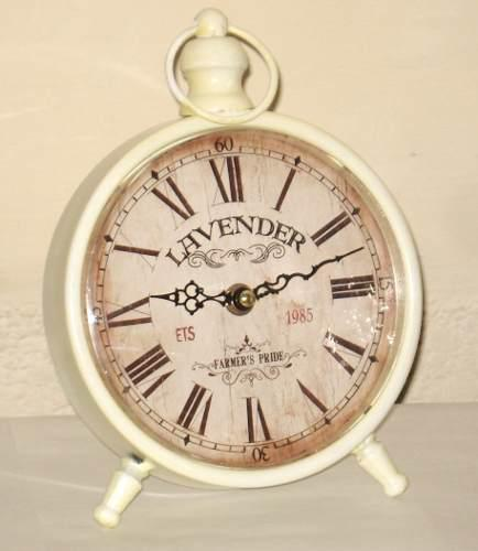 Reloj De Mesa Simil Antiguo En Metal - A Pila