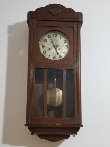 Reloj Pared Pendulo Junghans Funcionando - Madera Antiguo