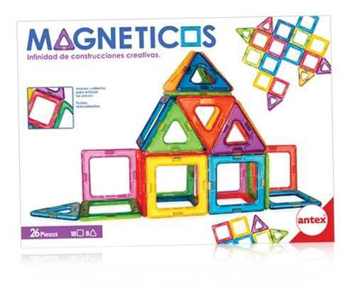 Juego Magneticos Para Armar Construir X 26 Piezas Antex