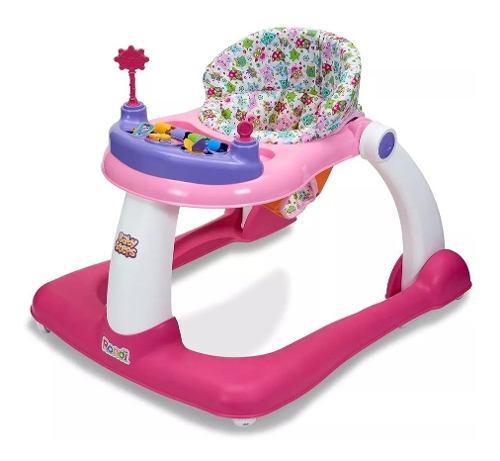 Andador Rondi Baby Steps Rosa 2 En 1 Ploppy 775144