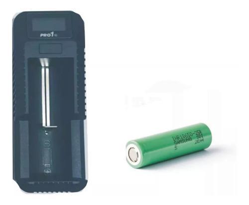 Bateria 18650 Samsung 25r Cargador Linterna Tactica Led Usb