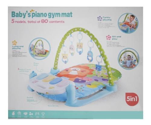 Gimnasio Para Bebe C/manta Piano Luz Y Sonido Verde 1700156