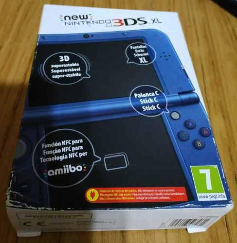 New Nintendo 3ds Xl Completa En Caja Azul Metálico