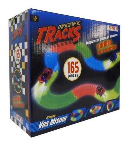 Pista De Autos Led Luminoso Magnific Tracks 165 Piezas Lelab