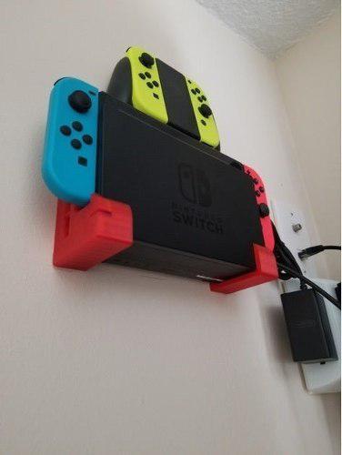 Combo Soporte De Pared Consola Nintendo Switch + Controles