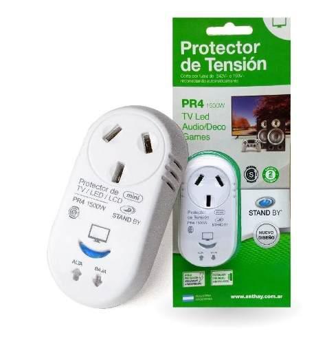 Protector Baja Y Sobre Tension 1500w Tv Consolas Pr4 Anthay