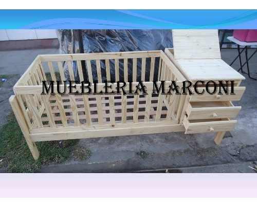 Cuna Funcional De Pino Muebleria Marconi Ituzaingo