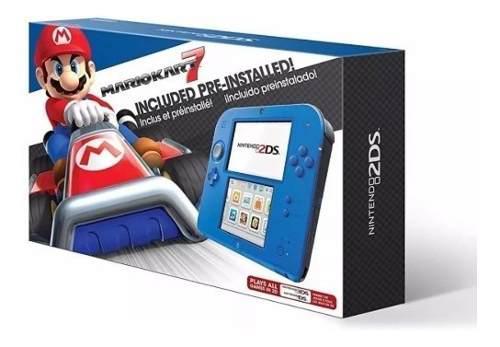Nintendo 2ds Con Mario Kart 7 Azul Nueva Portatil + Pokemon