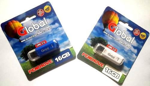 Pen Drive Usb Global 16 Gb Usb 2.0 Memoria Micro Flash Drive
