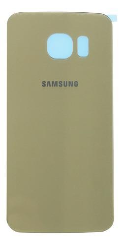 Tapa Trasera Samsung Galaxy S6 Flat G920 Dorada