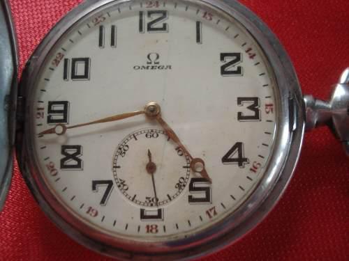 Antiguo Reloj De Bolsillo De Plata Omega