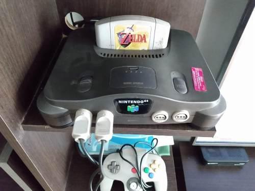 Nintendo 64 Con 2 Joystick, Memory Card Y Tremor Pack