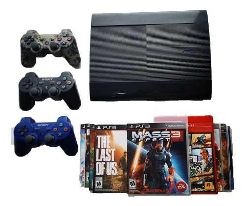 Ps3 Playstation 3 Super Slim 500 Gb + 9 Físicos /2