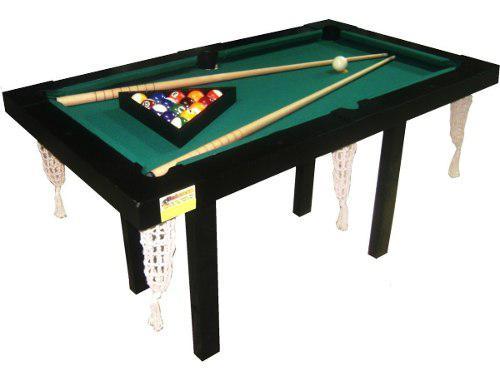 Mesa De Pool Mini 1.40x0.80mts Mdf + Kit Accesorios De Pool