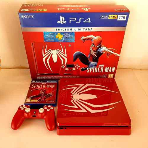 Playstation Ps4 Slim Ed Limitada Incluye Juego Spiderman