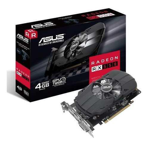 Placa De Video Amd Radeon Rx 550 4gb Asus Phoenix M7 Amd