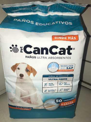 Paños De Entrenamiento Can Cat X 50 Unidades De 60 X 40 Cm