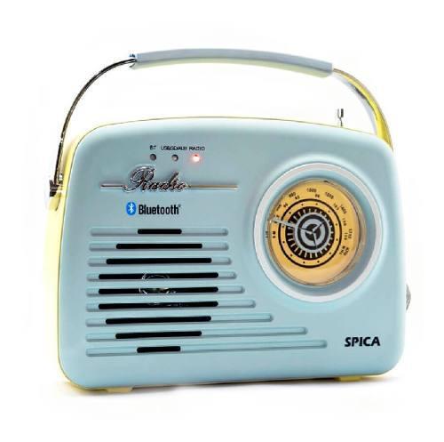 Radio Vintage Parlante Bluetooth Portatil Spica Sp110 Am/fm