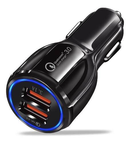 Cargador Celular Auto Carga Rapida Qualcomm 3.0 6 Amp 2 Usb