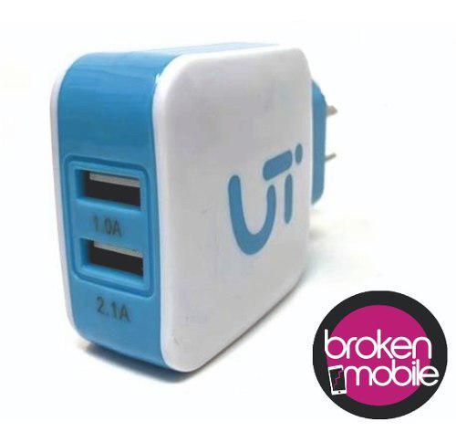 Cargador De Pared Iglufive iPhone 2 Usb Con Cable Lightning