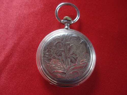Antiguo Reloj De Bolsillo De Plata Longines