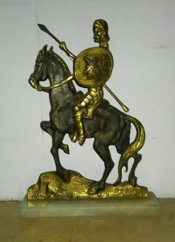 Quijote De Bronce Antiguo Silueta