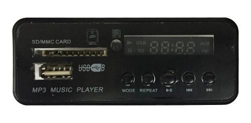 Modulo Mp3 Usb/sd/fm Control Remoto 12v Sin Fichas Ni Cables