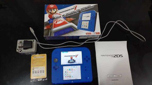 Nintendo 2ds Mario Kart 7 Blue Edition Preinstalado + Sd