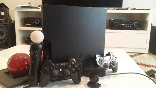 Playstation 3, 320 Gb + Move Y Cámara + 2 Joystick De