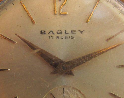 Antiguo Raro Reloj Pulsera 17 Rubis, Publicidad Bagley