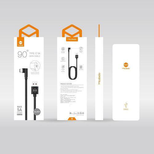 Mcdodo Cable Usb Tipo C, Conector 90° Ca 3450, Carga 5a Hua