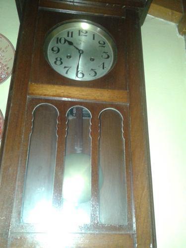 Reloj Antiguo Aleman De Pared Funcionando Muy Bien No Envio
