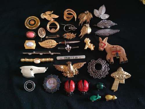 Prendedor Broche Antiguo Colección 37 Distintos Animales