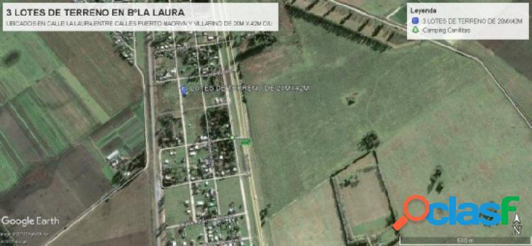 Lote Barrio La Laura 20 x 42, Ruta 2 Km 394