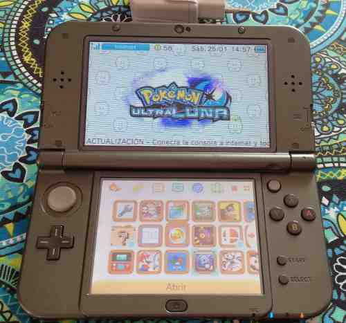 New Nintendo 3ds Xl Flasheada + Sd 32gb Y Juegos Instalados