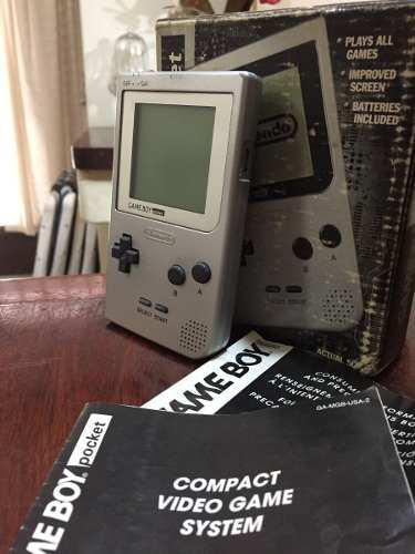 Game Boy Pocket En Caja Con Manuales Y 8 Juegos