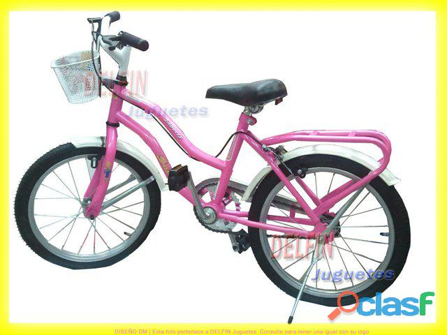 Bicicleta casi nueva muy poco uso niña rodado 16 color rosa