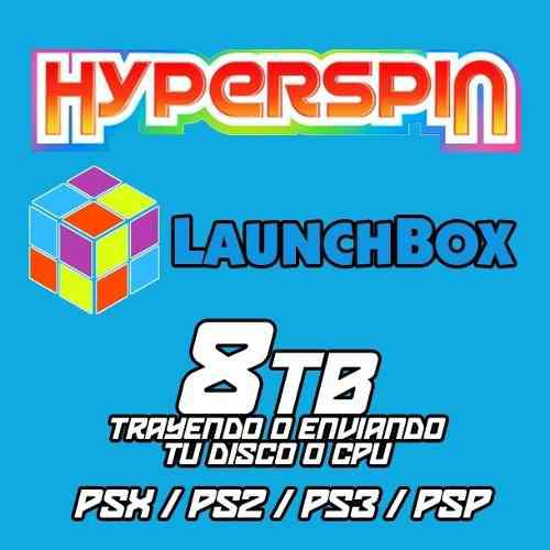 Hyperspin / Launchbox 8tb Para Pc Con Ps1 / Ps2 / Ps3 Y Psp