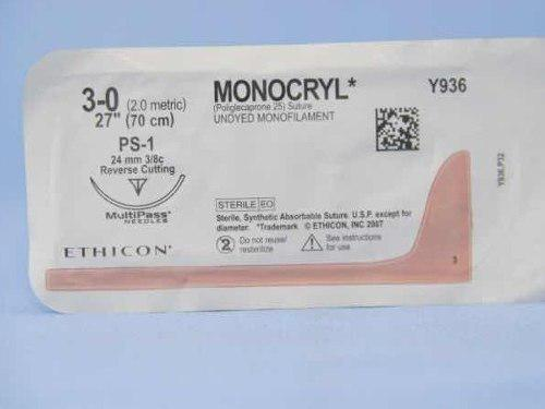 Monocryl 3/0 Con Ps-1 Pack X 10 Unidades