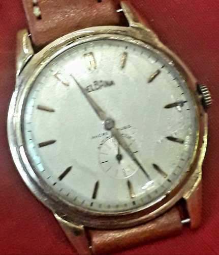 Antiguo Reloj Pulsera Hombre Delbana Cuerda Manual 40 Mm