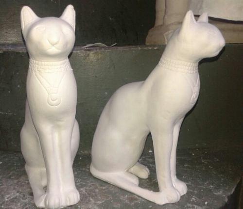 Gato Egipcio De Yeso
